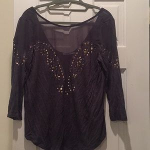 Urban Outfitters Grey embellished top